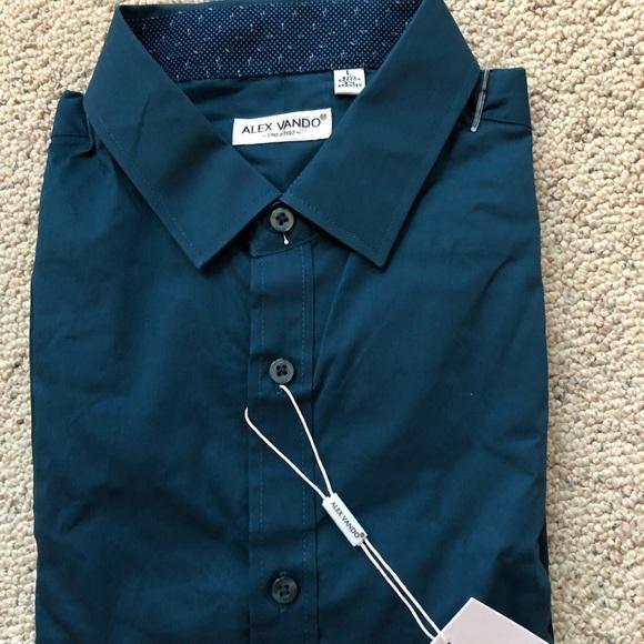 c977db72dc1 NWT Alex Vando Men's Stretch Dress Shirt Large NWT